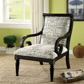 Script Fabric Accent Chairs