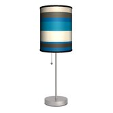 """Decor Art Stripes 20"""" H Table Lamp with Drum Shade"""