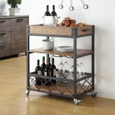 Eastfield Kitchen Cart with Wooden Top