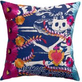 Mexico Carina Print Cotton Throw Pillow