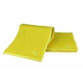 "MUmodern Waffle 12"" x 12"" Microfiber Dish Cloth in Lemon"
