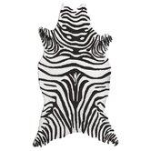 Resort Black Zebra Shaped Outdoor Area Rug