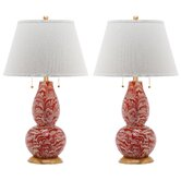 """Swirls 32"""" H Table Lamp with Empire Shade (Set of 2)"""