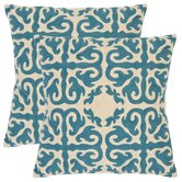 Caspar Decorative Pillows in Blue (Set of 2)