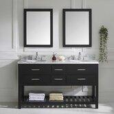 "Caroline Estate 61"" Double Bathroom Vanity Set with Mirror"