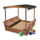 Convertible Cedar 4' Rectangular Sandbox with Cover