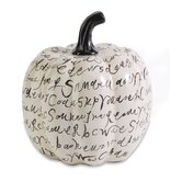 Wicked Script Ceramic Pumpkin