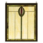 Spear Wood Frame Stained Glass Window