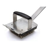 Steven Raichlen Forged Stainless and Pakka Wood Dual Handle Grill Brush