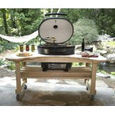 Cypress Table for Extra Large Oval Grill