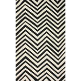 Homestead Ash Arron Black & Ivory Chevron Area Rug