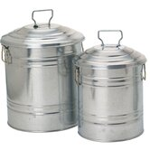Galvanized Containers (Set of 4)