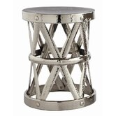 Costello Accent Table in Polished Nickel and Silver
