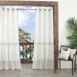 Summerland Key Outdoor Single Curtain Panel
