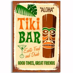 'Tiki Bar' Vintage Advertisement
