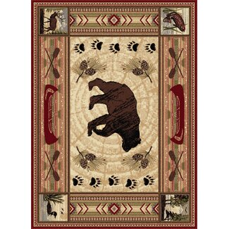 Great Outdoors Bear Wildlife Rug