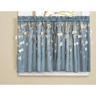 Flower Kitchen Tier Curtain from Wayfair!