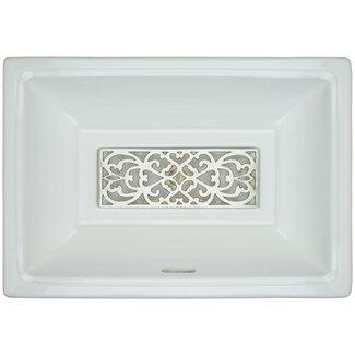 Sink Grates For Kohler Sinks : Linkasink Porcelain Filigree Grate Bathroom Sink with Overflow ...