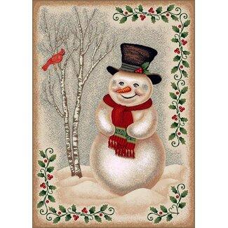 Milliken Winter Snowman Rug