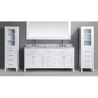 Dcor Design 108 Double Bathroom Vanity Set With Mirror Wayfair Supply