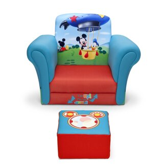 Delta children mickey mouse kids upholstered chair and ottoman set