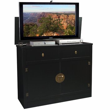 tvliftcabinet inc hideaway tv stand reviews wayfair. Black Bedroom Furniture Sets. Home Design Ideas