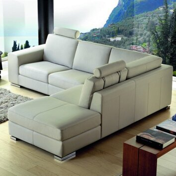 Divani Casa Leather Sectional  Wayfair