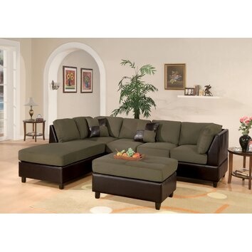 Poundex Bobkona Reversible Chaise Sectional Amp Reviews