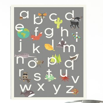 Children Inspire Design Nature Themed Alphabet Framed Art