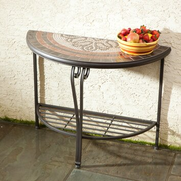 orvieto half moon console table wayfair. Black Bedroom Furniture Sets. Home Design Ideas