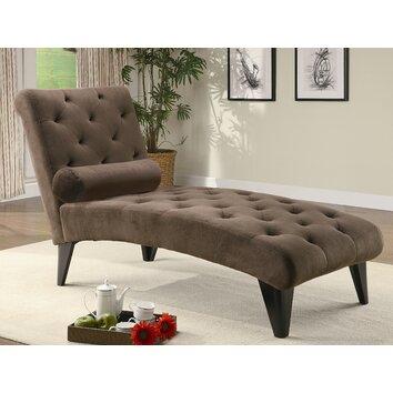 Wildon home blair velour chaise lounge reviews wayfair for Chaise velours