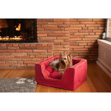 Snoozer pet products luxury square pet bed with memory foam