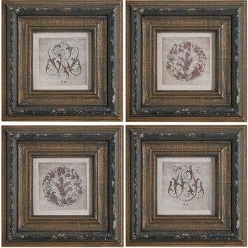 A&B Home Group, Inc 4 Piece Framed Wall Art Set & Reviews ...
