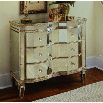 Hooker Furniture Mirrored 3 Drawer Chest Reviews Wayfair