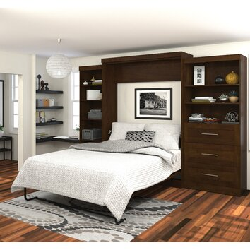 storage kitchen cabinets bestar murphy bed amp reviews wayfair 26882