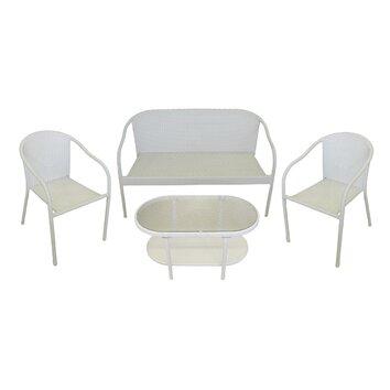 4 piece resin wicker patio furniture set wayfair Wicker Patio Conversation Set Wicker Patio Conversation Set