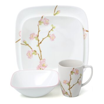 Corelle Cherry Blossom 16 Piece Dinnerware Set  sc 1 st  Shopswell & Corelle Cherry Blossom 16 Piece Dinnerware Set | shopswell