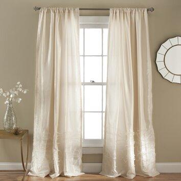 Lush Decor Paloma Rod Pocket Single Curtain Panel