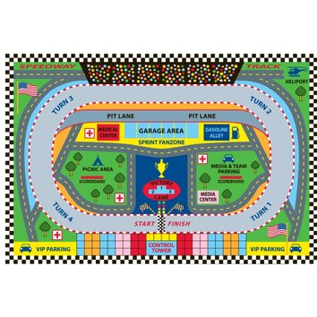 Fun Rugs Fun Time Speedway Kids Rug