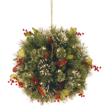 National Tree Co. Wintry Pine Pre Lit Kissing Ball