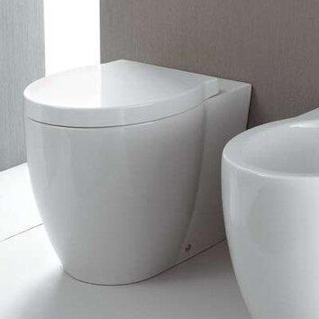 GSI Collection Panorama Ceramic Floor Round 1 Piece Toilet