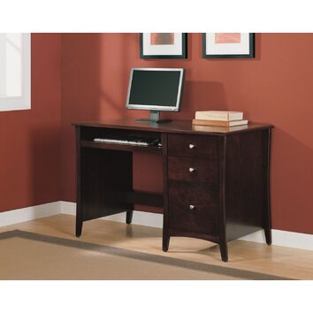 Altra Single Pedestal Computer Desk with 2 Box Drawers