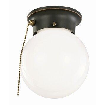 design house 1 light flush mount with pull chain reviews wayfair. Black Bedroom Furniture Sets. Home Design Ideas
