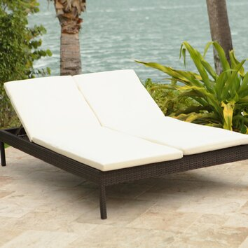 Manhattan Double Chaise Lounge with Cushion | Wayfair