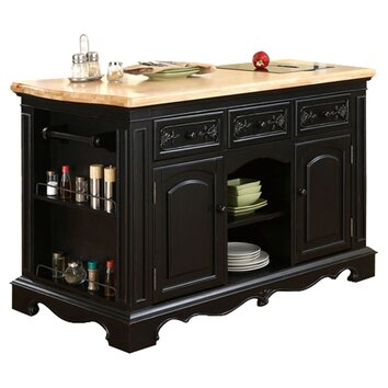 Powell Pennfield Kitchen Island With Granite Top Amp Reviews