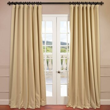 Half price drapes turquoise doublewide curtain panel - Half Price Drapes Doublewide Plush Blackout Single Curtain Panel