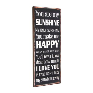 Wilco Home Quot You Are My Sunshine Quot Textual Art Plaque