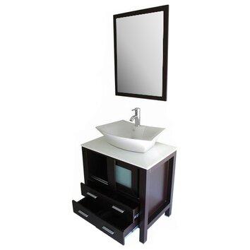 Kokols 30 Quot Single Bathroom Vanity Set With Mirror