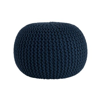 Saro Cotton Twisted Rope Pouf Ottoman - Available online Here in Several Colors