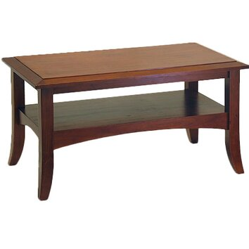 Winsome Antique Walnut Coffee Table Reviews Wayfair